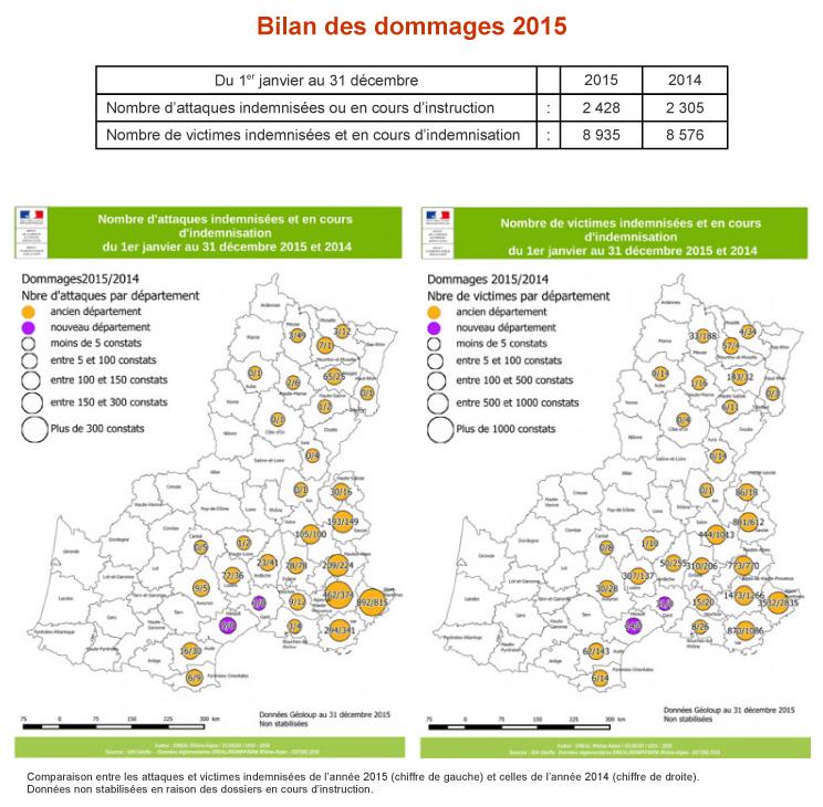 Bilan des attaques de loup en 2015 - extrait de info Loup n°9