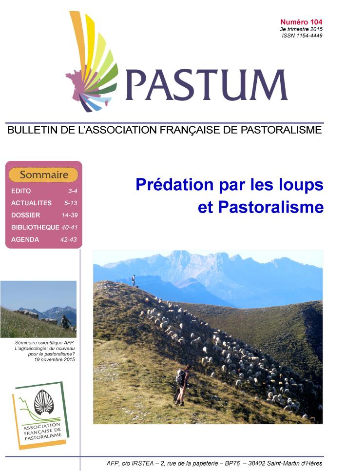 Pastum 104 - AFP - Predation par les loups et Pastoralisme-1