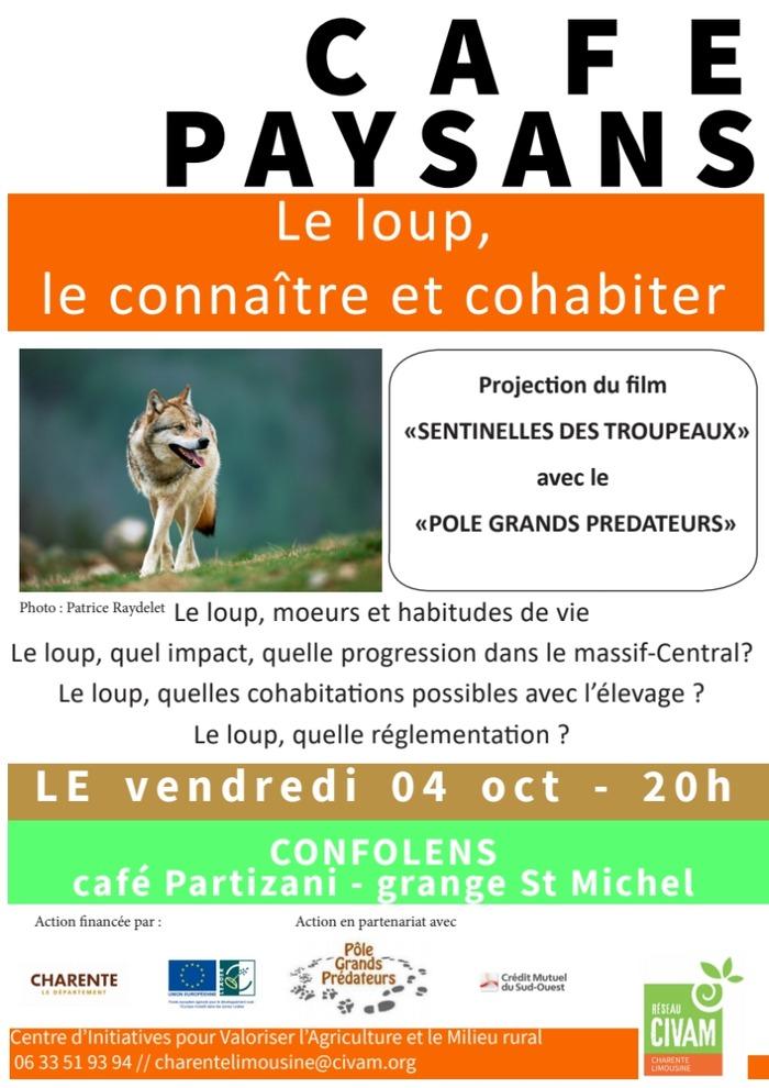 Café Paysan : Le Loup AMAC Confolens 4 octobre 2019